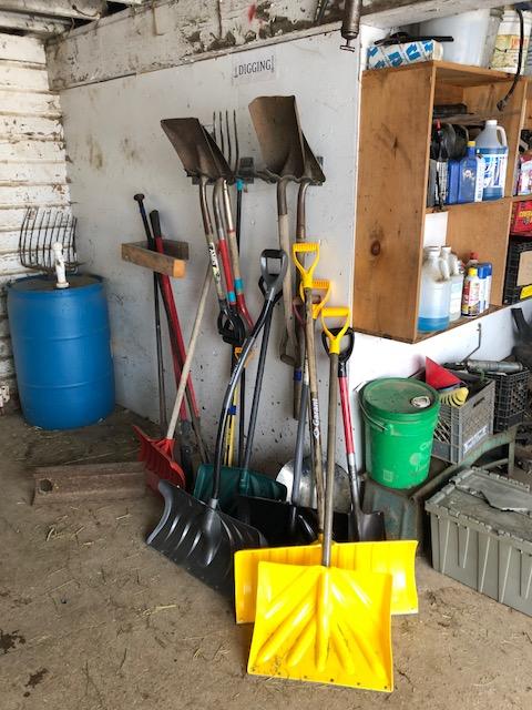 Still using snow shovels
